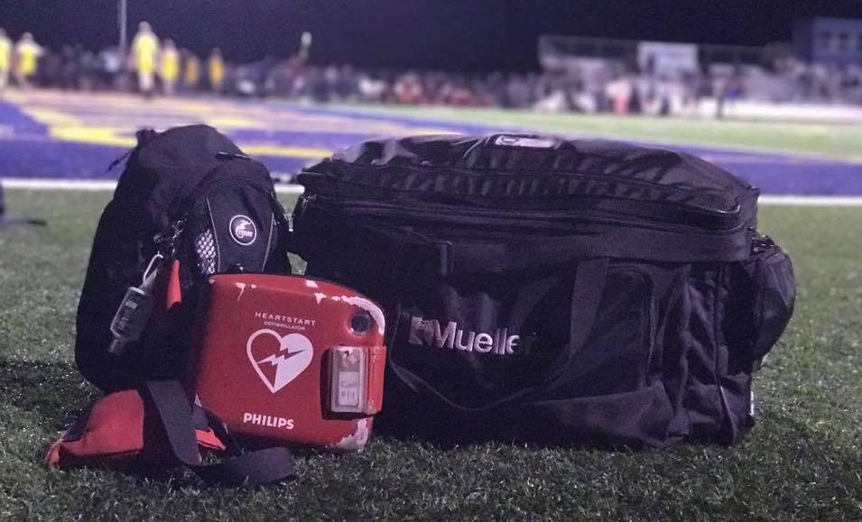 AT Direct Sports Medicine On the Field Kit, AED, Football